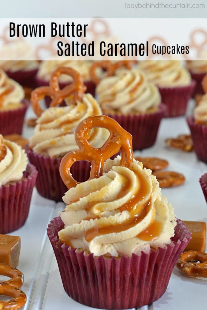 Brown Butter Salted Caramel Cupcakes