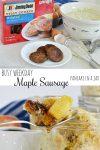 Busy Weekday Maple Sausage Pancake in a Jar