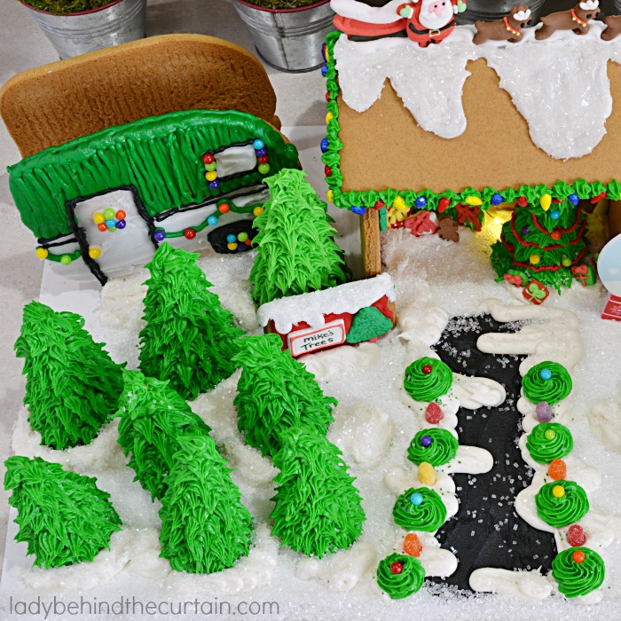 Gingerbread Christmas Tree Lot