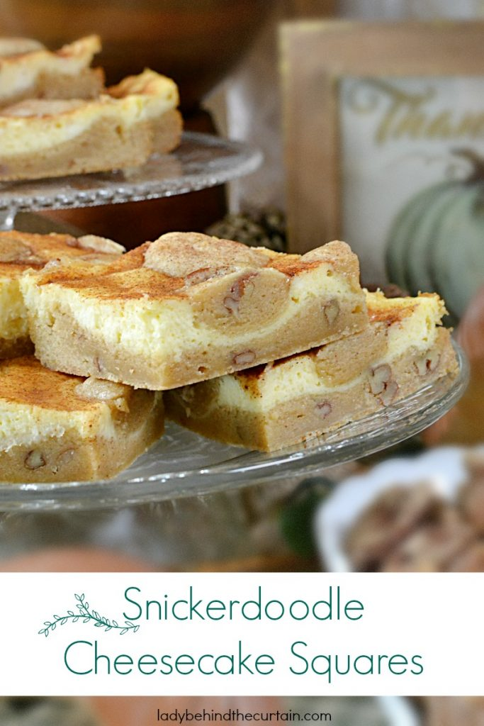 Snickerdoodle Cheesecake Squares