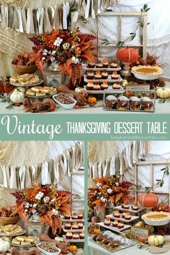 Vintage Thanksgiving Dessert Table