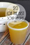 20 of the BEST Soup Recipes