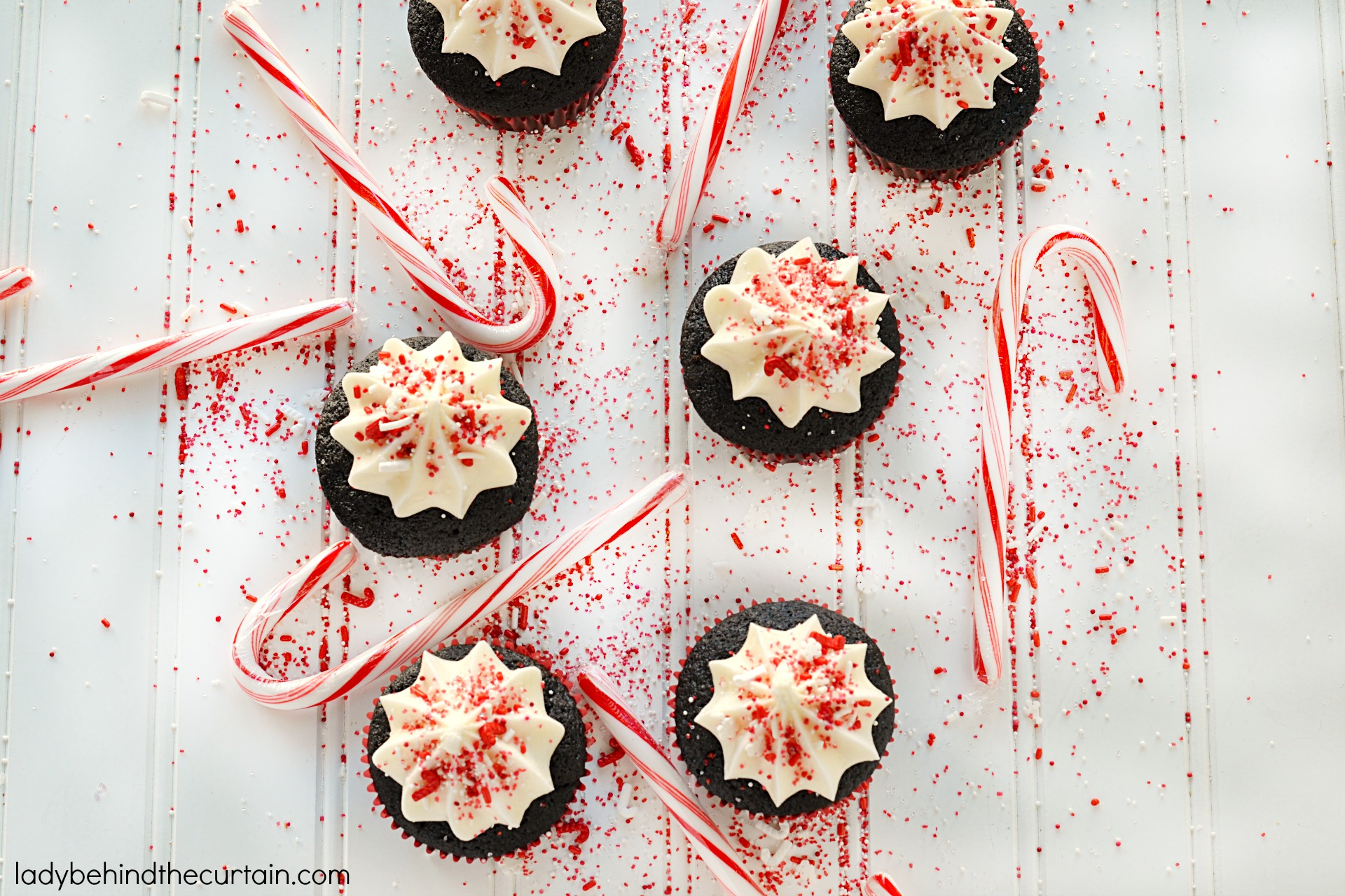 Peppermint Marshmallow Filled Chocolate Cupcakes