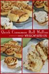 Quick Cinnamon Roll Muffins with Brown Butter Icing