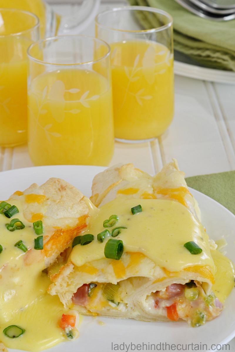 American Style Breakfast Enchiladas