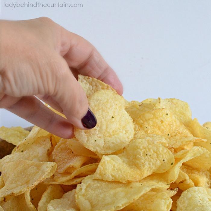 DIY Ranch Potato Chips