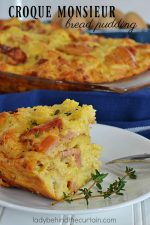 Croque Monsieur Bread Pudding