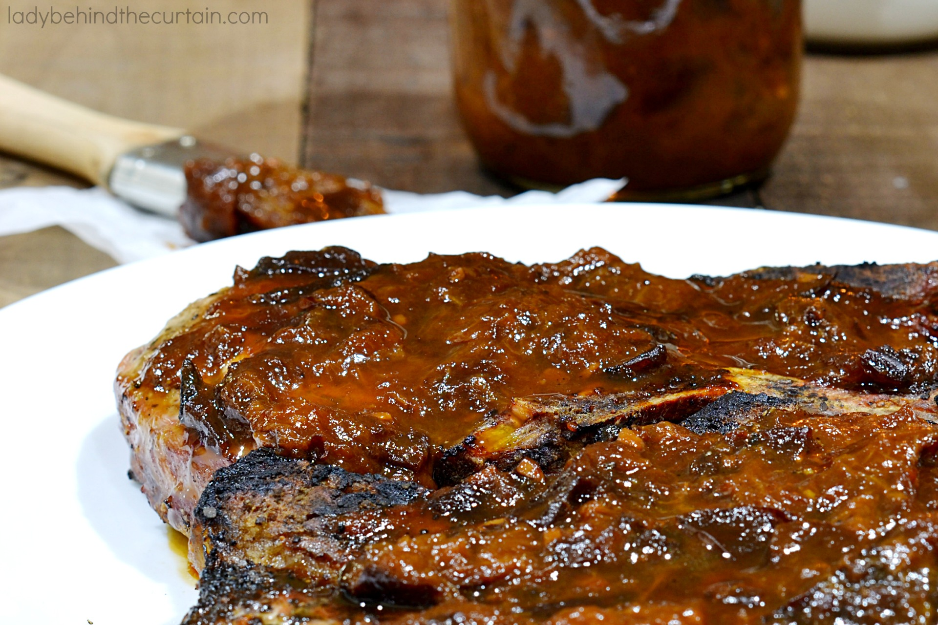 Grilled Sticky Pork Chops