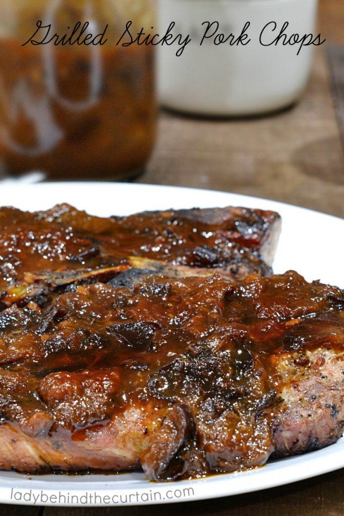 Grilled Sticky Pork Chops