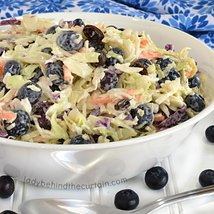Light Blueberry Coleslaw