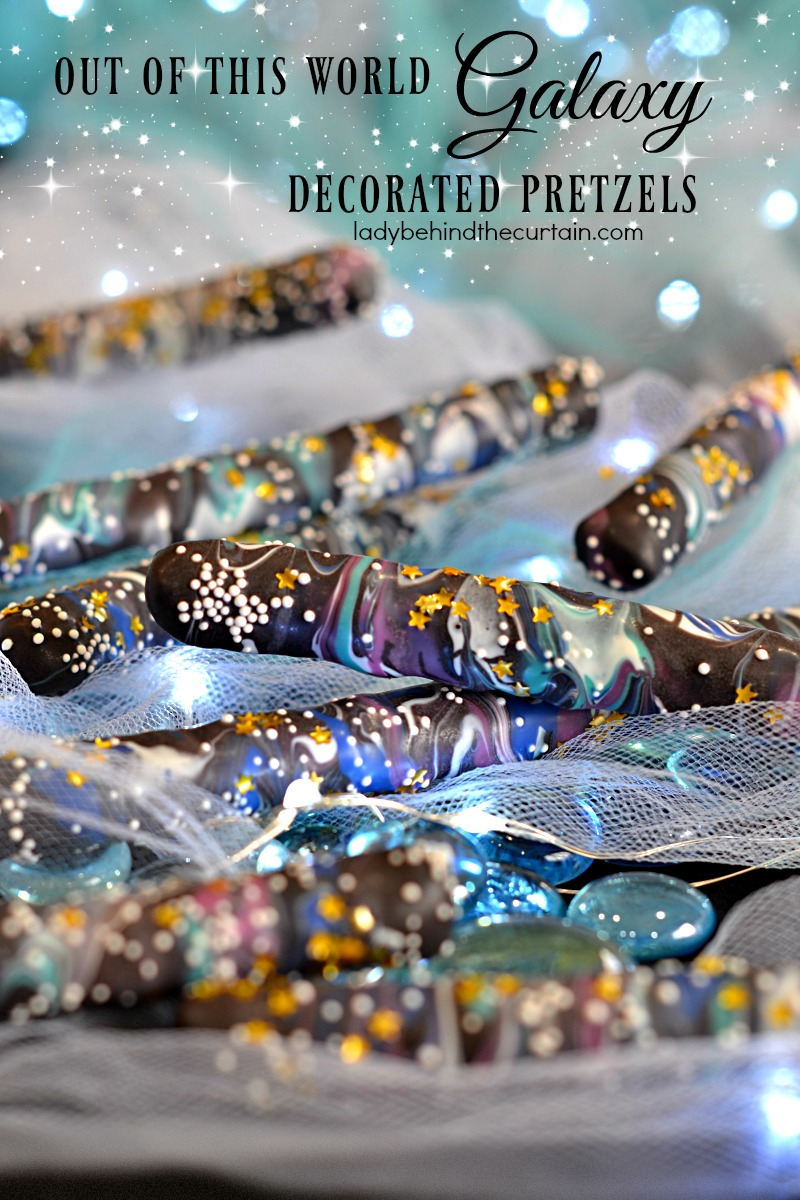 Out of this World Galaxy Decorated Pretzels
