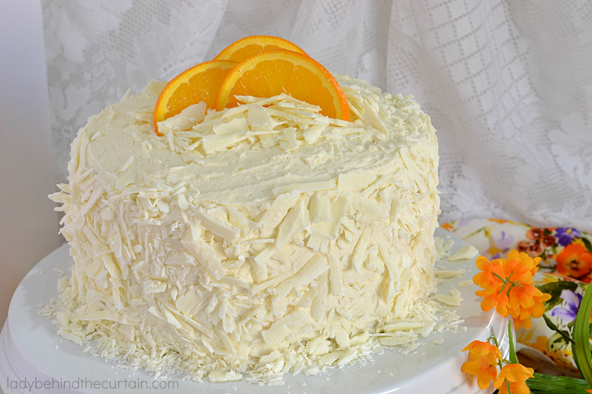 White Chocolate Orange Cream Filled Cake