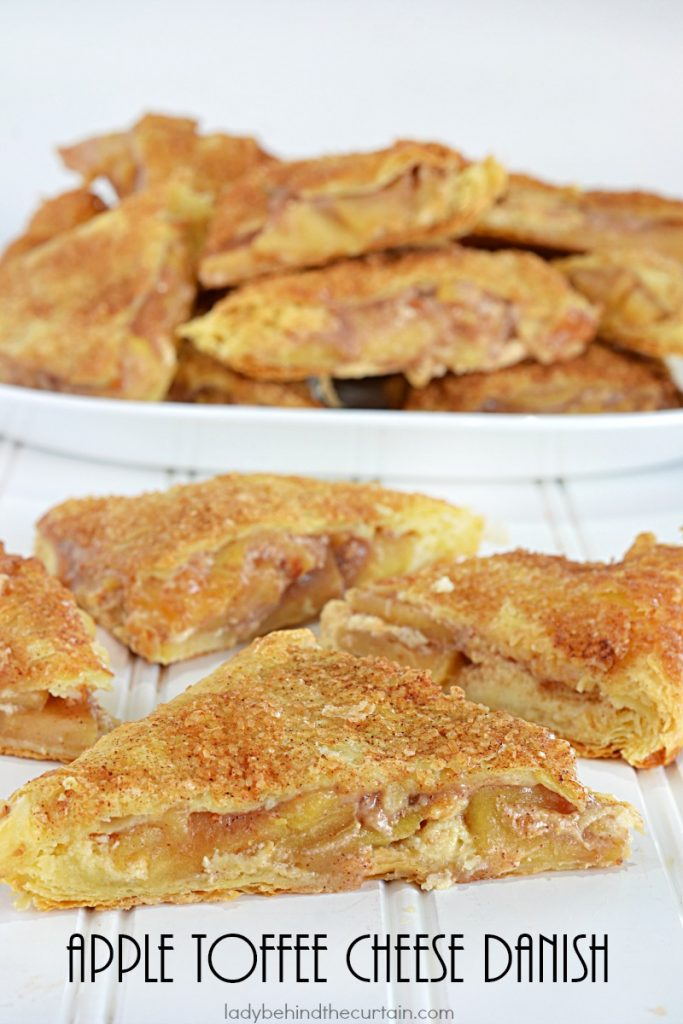 Apple Toffee Cheese Danish