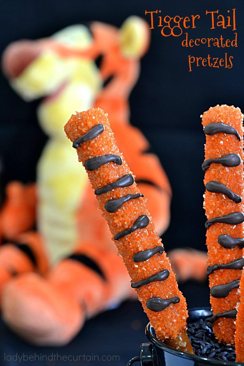 Tigger Tail Decorated Pretzels