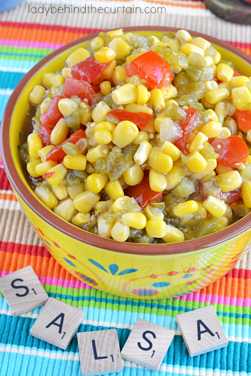 Semi Homemade Corn Salsa
