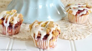 Semi Homemade Raspberry Coffee Cake Mini Muffins
