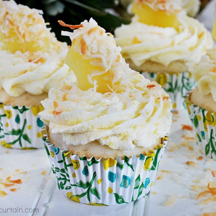 Semi Homemade Tropical Pineapple Coconut Cupcake Recipe