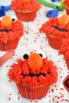 Elmo Vanilla Birthday Party Cupcakes