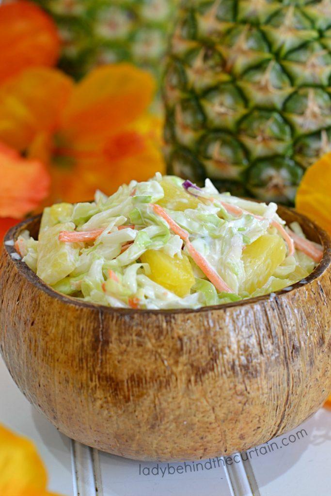 Hawiian Pineapple Coleslaw