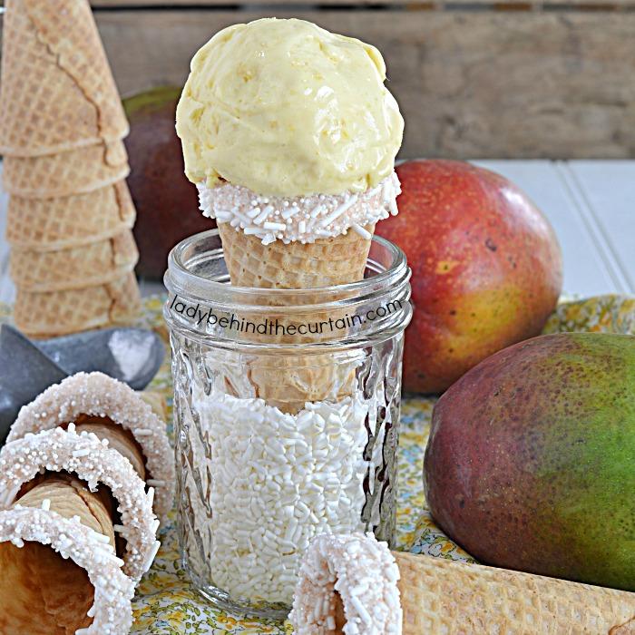 Creamy Homemade Mango Gelato