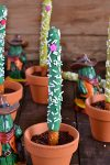 Desert Saguaro Cactus Decorated Pretzels