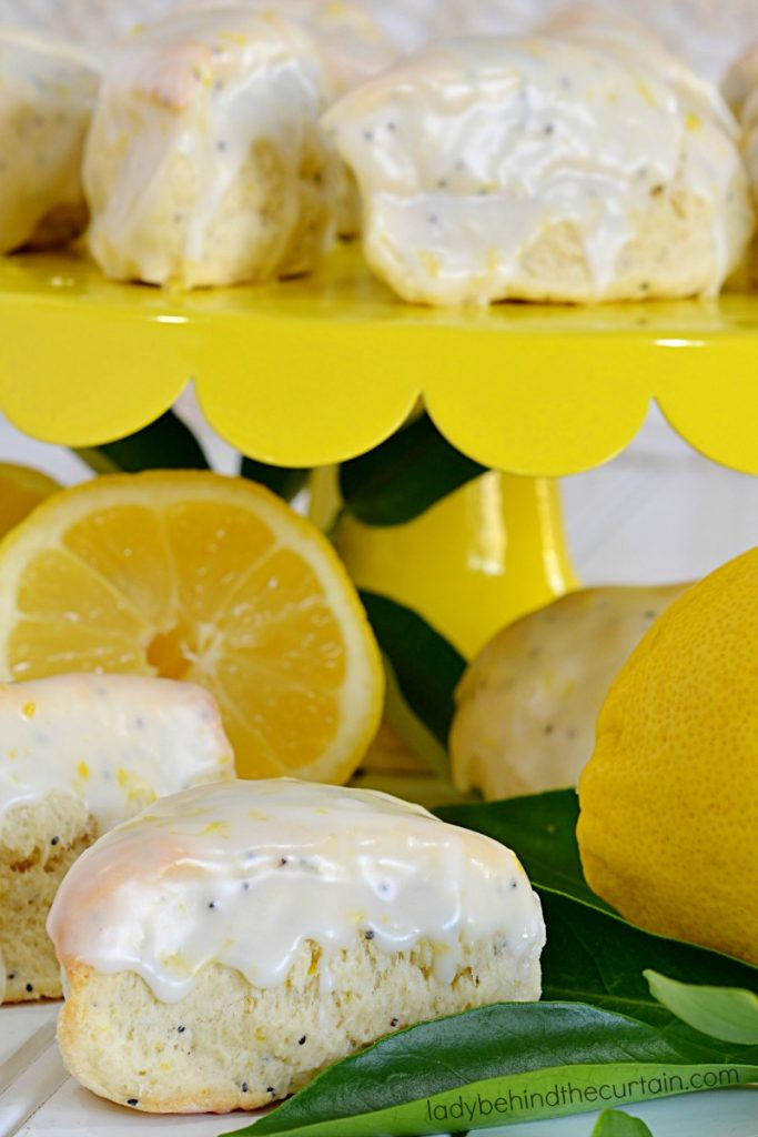 Mini Lemon Poppy Seed Scones
