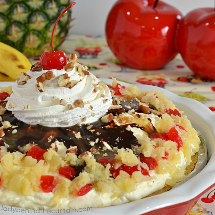 No Bake Low Fat Banana Split Cheesecake