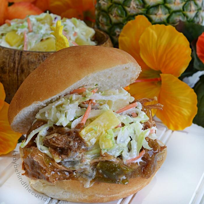 Slow Cooker Island Shredded Pork Sandwich Recipe