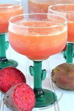 Sparkling Prickly Pear Cactus Slush Punch
