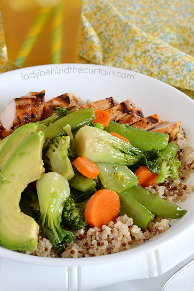Copycat True Food Kitchen Quinoa Teriyaki Chicken Bowl