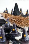 DIY Edible Halloween Party Witch Hat Treat