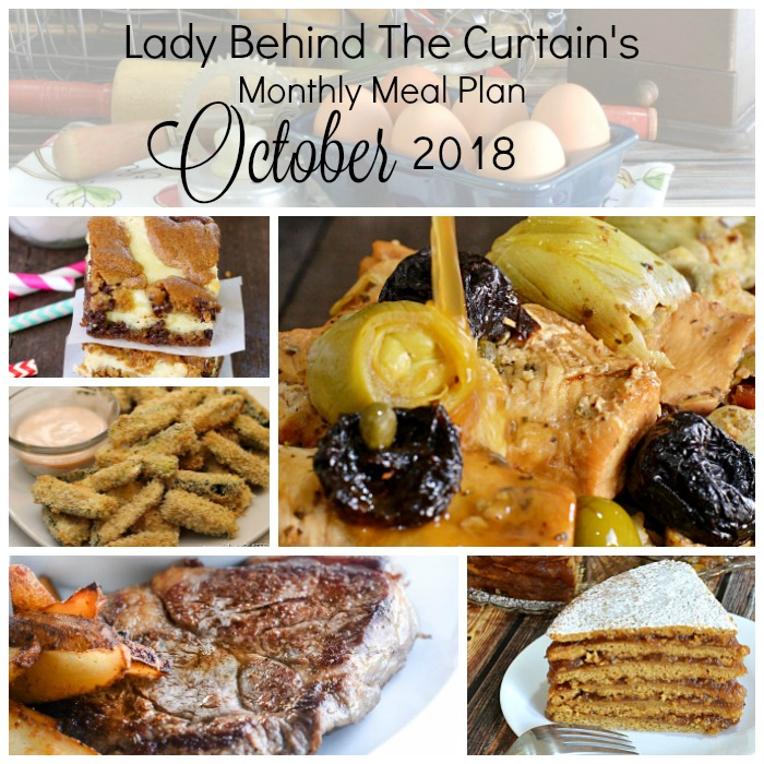 Lady Behind The Curtain's Monthly Meal Plan October 2018