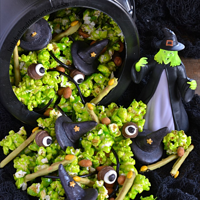 Melting Witch Candy Popcorn Halloween Party Mix
