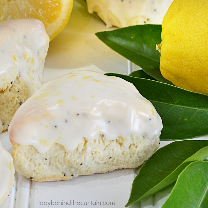Mini Lemon Poppy Seed Scones
