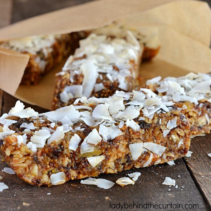 No Bake Fruit and Nut Energy Bar Recipe