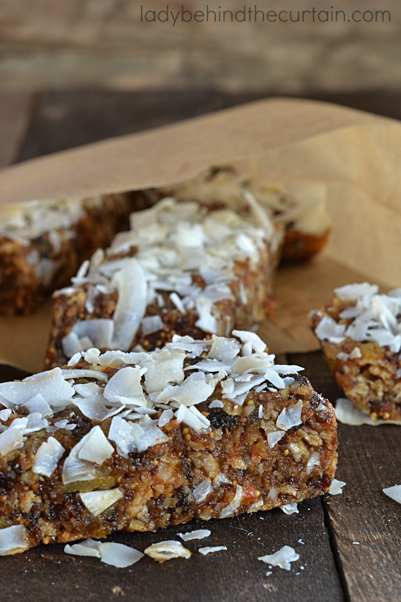 No Bake Fruit and Nut Energy Bar Recipe