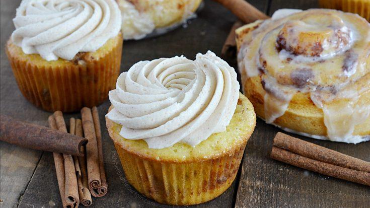 Semi Homemade Cinnamon Roll Cupcakes