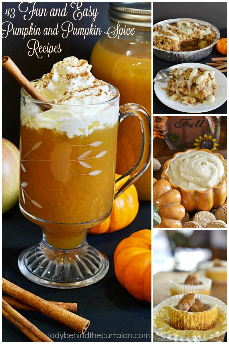 43 Fun and Easy Pumpkin and Pumpkin Spice Recipes