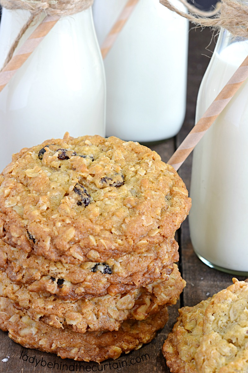 Classic Chewy Homemade Oatmeal Raisin Cookie Recipe