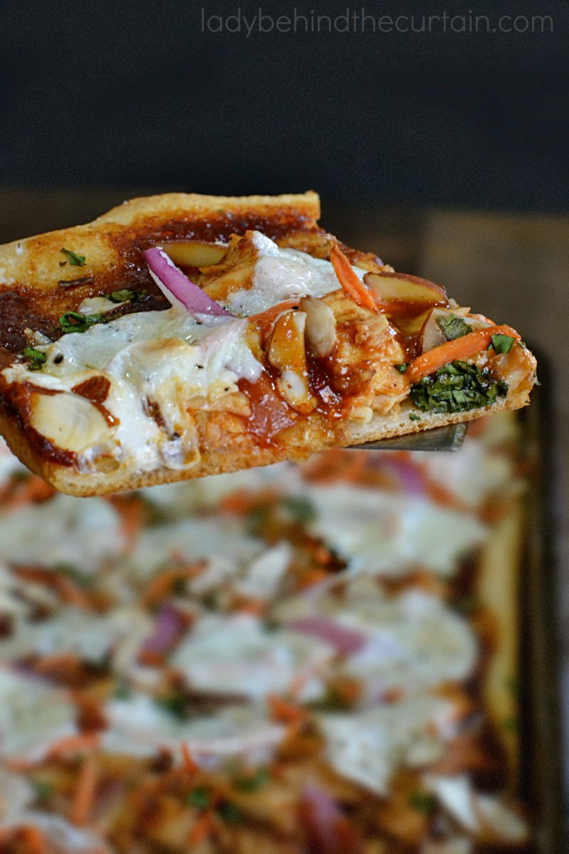 Copycat California Kitchen Barbecue Chicken Pizza Slab Pie