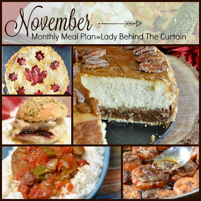 November Monthly Meal Plan»Lady Behind The Curtain