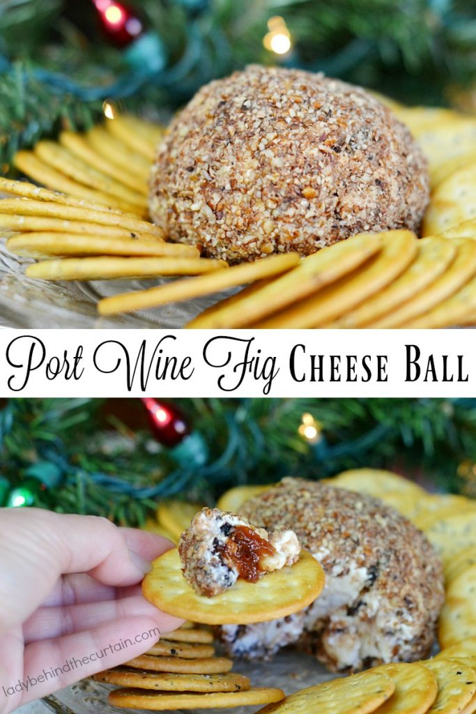 Port Wine Fig Cheese Ball
