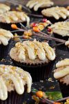 Banana Nut Salted Caramel Crunch Muffins