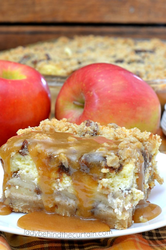 Caramel Apple Pie Cheesecake Bars