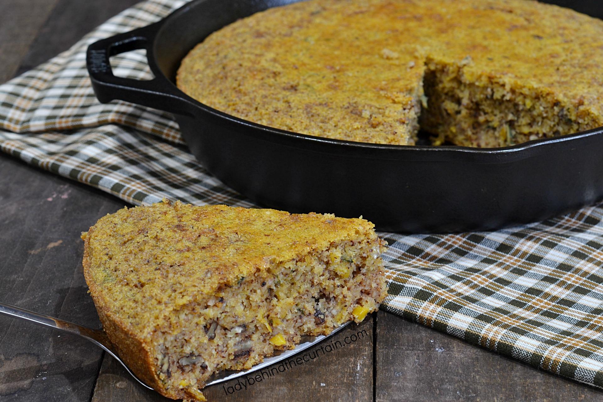 Thanksgiving Skillet Pecan Cornbread