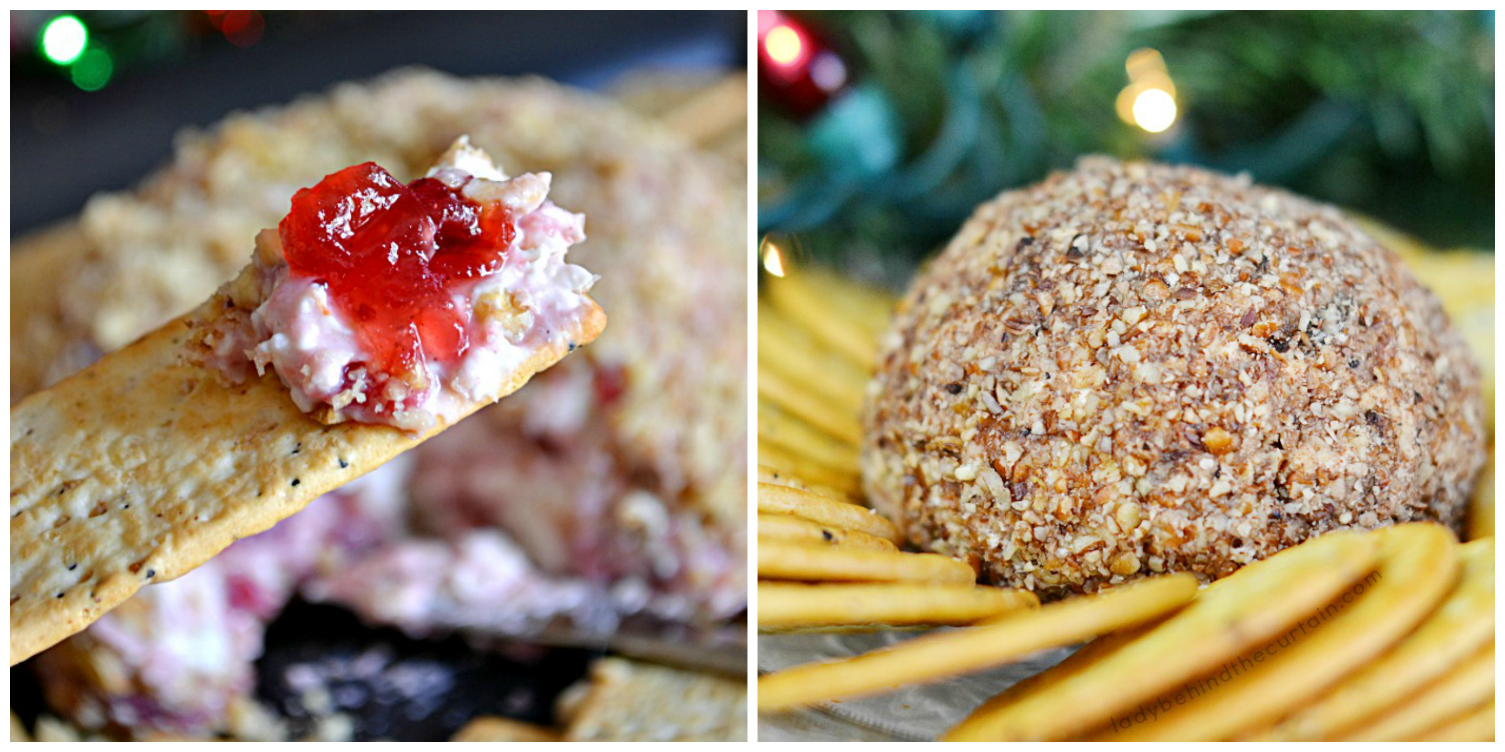 Christmas Cheese Ball.Easy Savory Holiday Cheese Ball