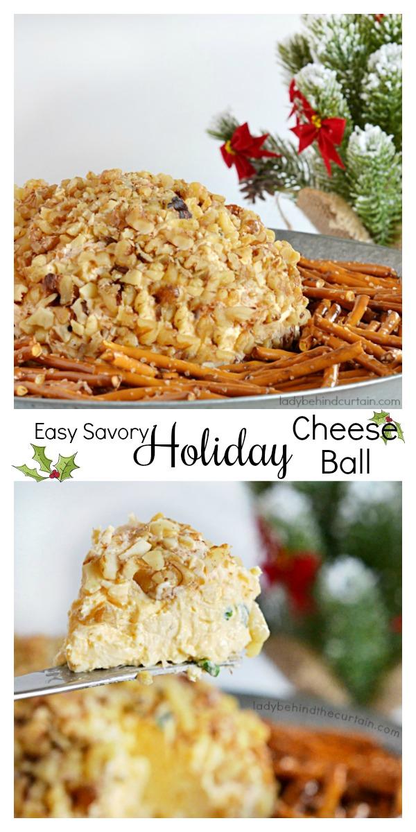 Easy Savory Holiday Cheese Ball