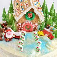 Gingerbread Winter Wonderland Cake