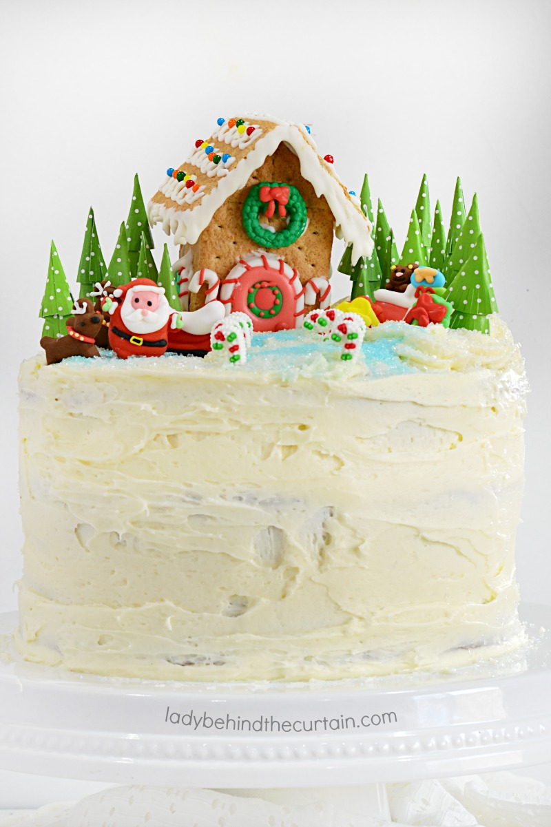 Gingerbread Winter Wonderland Cake