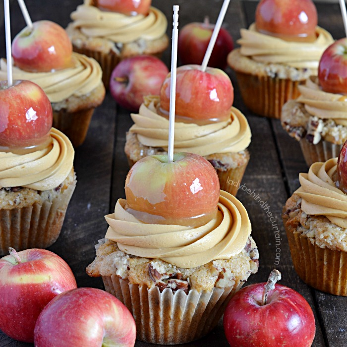 Caramel Apple Party Cupcakes
